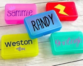 Personalized Pencil Box | Back to School Pencil Box | Custom School Supply Box | Marker box with name | Art Case