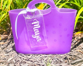 Personalized Glitter Bubble Tote | Custom Pool and Beach Bag | Kids Summer Toy Bag | Personalized Tote Bag | Personalized Waterproof Bag