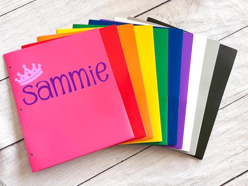 Personalized 3 Hole Folder  Back to School 2 Pocket Folders  image 0