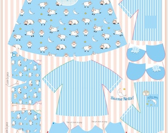 Good night! Sewing kit pannel, Tui-Tui's clothes