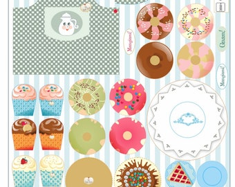 My pastry shop - kit accessories for Tui-Tuis. Fabric