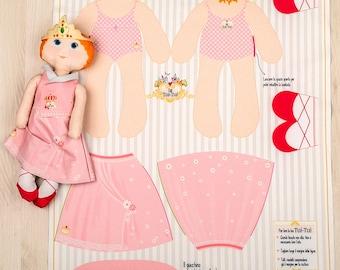 Paulina - panel for fabric doll