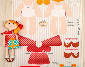 Elodie - Sewin kit for fabric doll