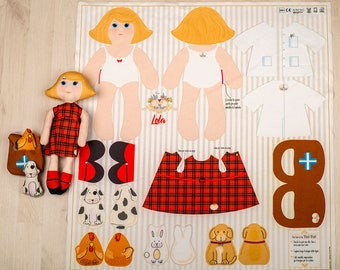 Lola - sewing kit for fabric dolls