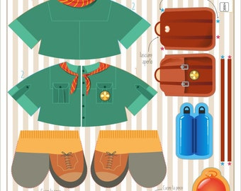 Scout - Clothes - sewing kit for Tui-Tui® dolls-