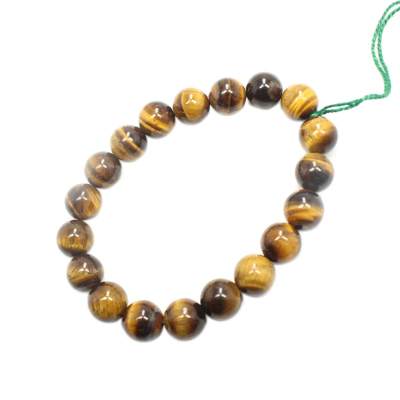 50/% OFF Natural Tiger Eye Smooth Round shape Bracelets Beads Size 10x10 mm Approx  gemstone Beads BB-03