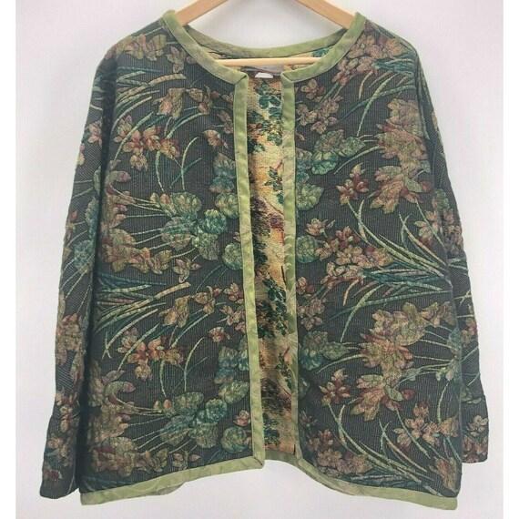 Vintage Aida Dalati Tapestry Jacket Size Medium Ar