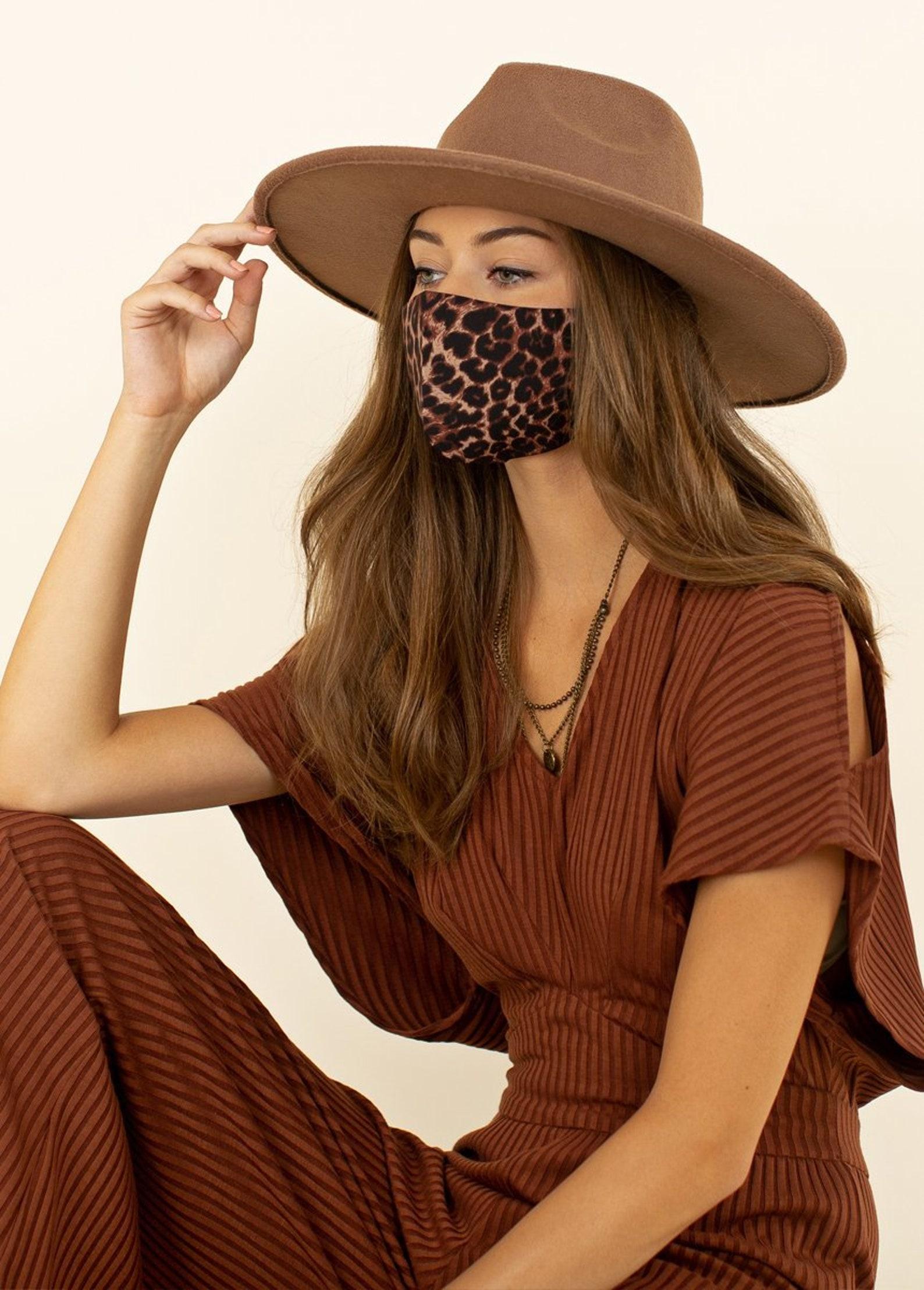 Leopard Designer Face Mask