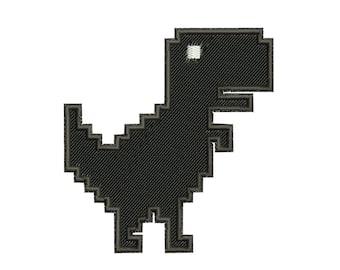 No Internet No Life Dinosaur Chrome Funny Game 8-Bit Pixel Unisex Tee T-Shirt