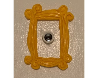 FRIENDS Peephole Frame Christmas Decoration gift for him 3D printed wedding frame gift for mum gift for her door
