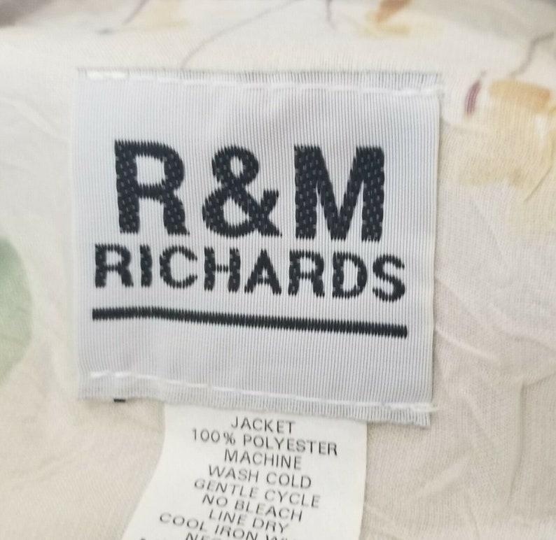 Vintage 90s R/&M Richards Womens Midi Dress 18 Cream Violet Slip Blouse Flowy Set