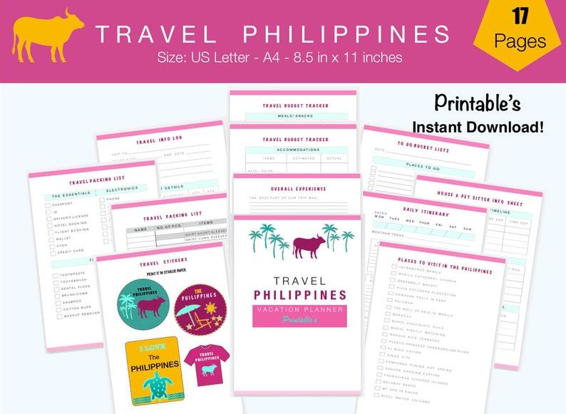 Travel Philippines Vacation Planner Travel Planner Organizer image 0
