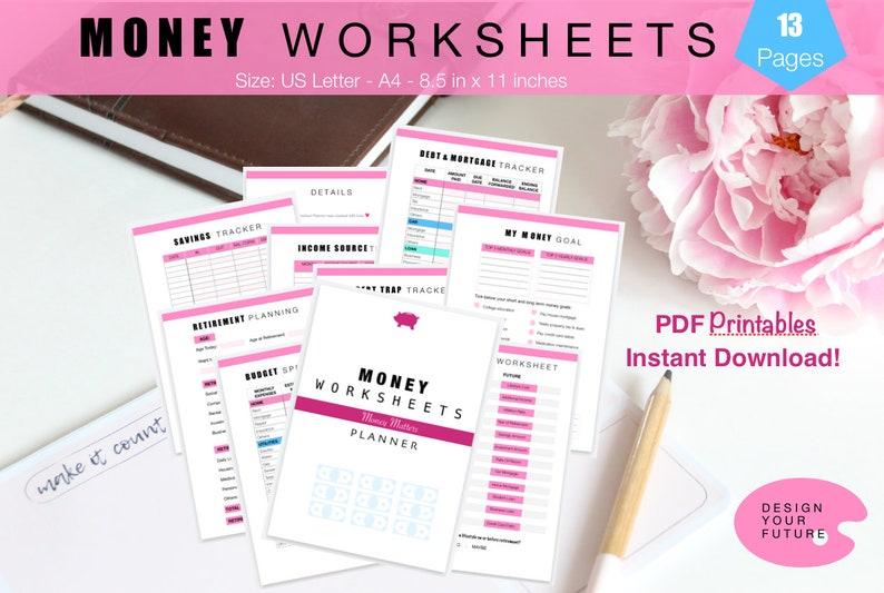 Money Worksheets Money Management Worksheets Retirement image 0