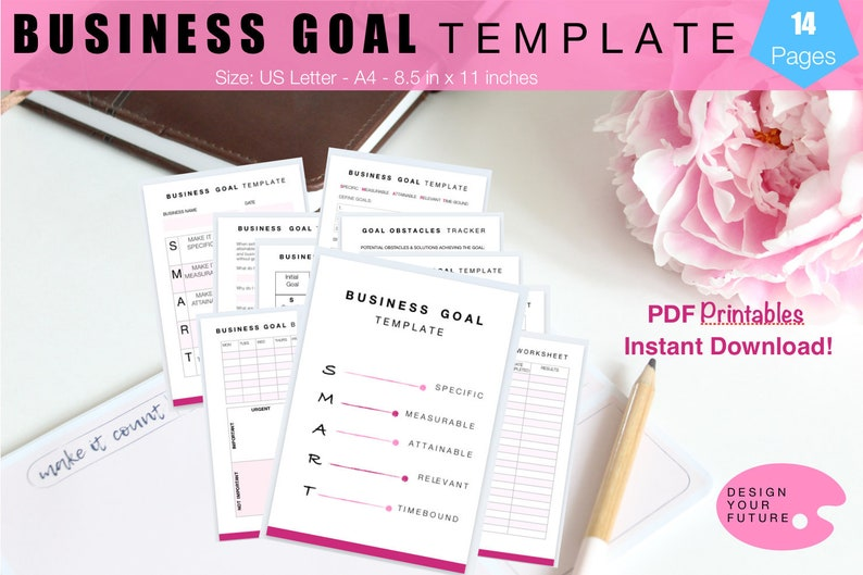 Business Goal Template Business Goal Setting Worksheet image 0