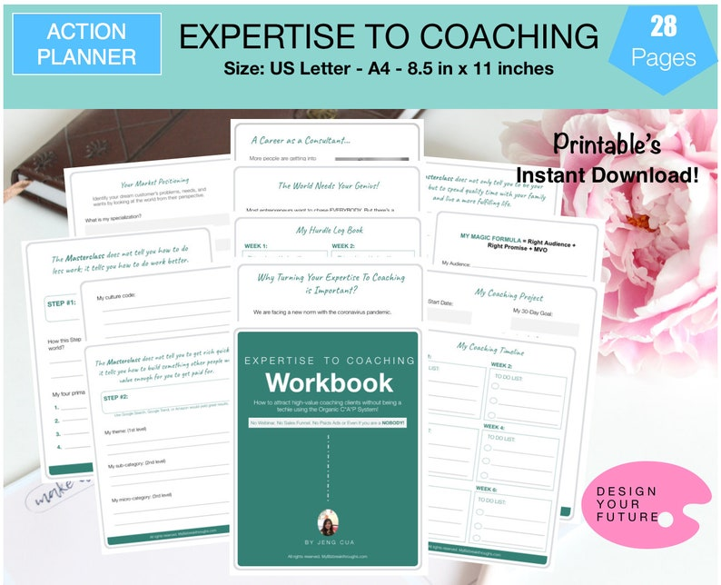 Action Planner: Expertise to Coaching Workbook/The Startup image 0