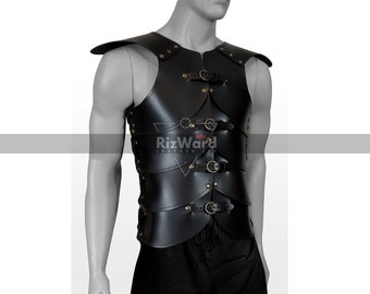 Kids Elven Pauldrons #DK5101-2 Pretend Play Childrens Leather Armour