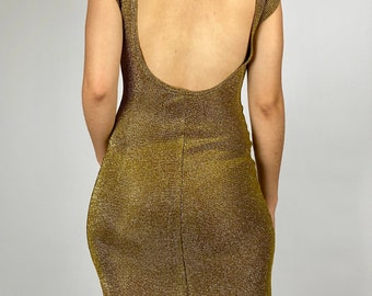Vintage Plus Size Dress Vintage 70s Disco Dress Vintage 1970s Dress Vintage Champagne Party Dress