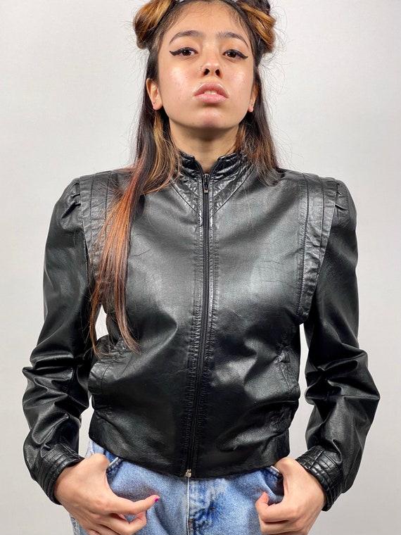 Thriller 1980s genuine leather jacket