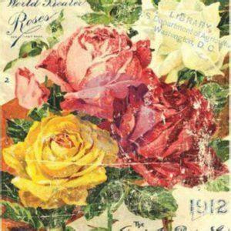 Floral Treasures Transfer 24x34 in size First Generation IOD Iron Orchid Designs