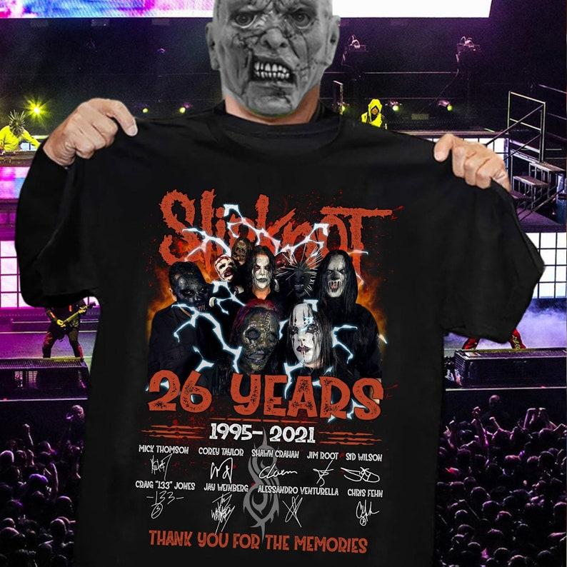 26 years 1995-2021 Slipknot thank you for the memories Unisex Trending Hoodies Sweatshirt Long Sleeve V Neck Tank Top Kid Tee T Shirt
