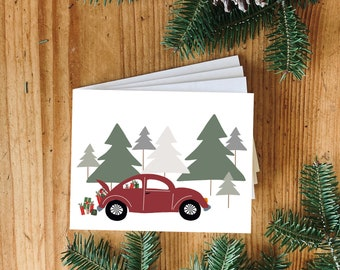 NEW! Christmas Card Set, Cards bundle, Christmas, Carte des fêtes, Greeting Cards, Blank Inside, Envelope included, Greeting Cards Set