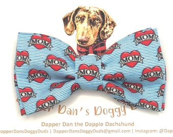 I Heart Mom Bow Tie for Dogs