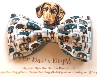 Camping Bow Tie for Dogs