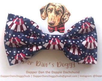 Fourth of July Bunting Bow Tie for Dogs