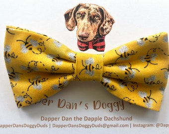 The Bees Knees Bow Tie for Dogs