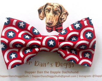 Captain America Bow Tie for Dogs