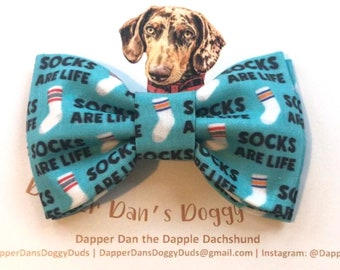 Sock Monster Bow Tie for Dogs