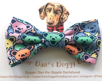 Grateful Dead Bow Tie for Dogs