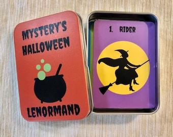 Mystery's Halloween Lenormand Deck w/Matching Tin Box