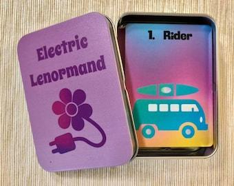 Electric Lenormand Deck w/Matching Tin Box