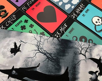 Halloween Deck + Spooky GT Cloth Bundle: Mystery's Halloween Lenormand Deck + Grand Tableau Spread Cloth & Pouch (Witches)