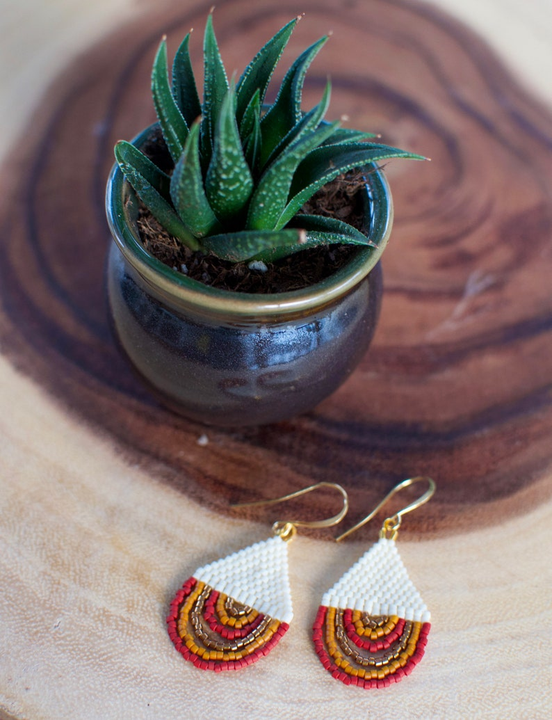 G A I A  Handwoven Delica Earrings