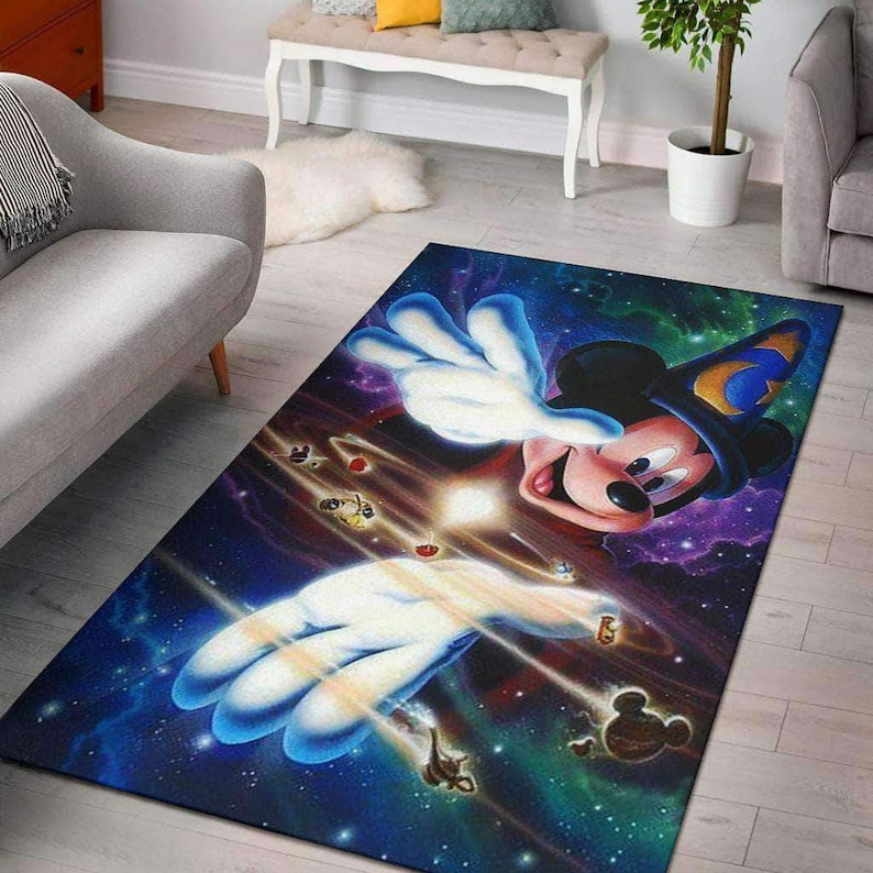 Magic Mickey Rug,Mickey Mouse Rug,Disney Rug,Housewarming Gift,Disney Carpet,Disney Lover Gift,Mickey Lover Gift,Disney Mickey Mouse Carpet