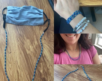 Mask Chain (and necklace! and wrap bracelet!)