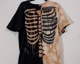 Skeleton Ying Yang Tee