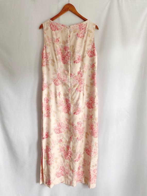 Vintage 90s 1990s Laura Ashley floral print dress… - image 2
