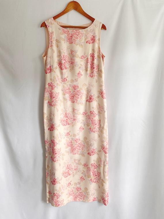 Vintage 90s 1990s Laura Ashley floral print dress… - image 1