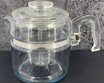 PYREX Vintage Flameware Glass Percolator Coffee Pot 6 Cup 7756-B