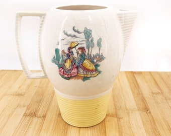 Triumph American Limoges Colony Yellow Pitcher