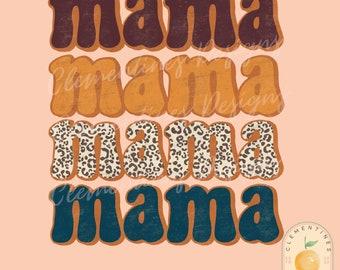 Mama PNG- Fall Sublimation Design, Fall Png, Autumn Sublimation,Retro Fall designs, Cute fall png, Retro mama png, Thanksgiving png,Cheetah