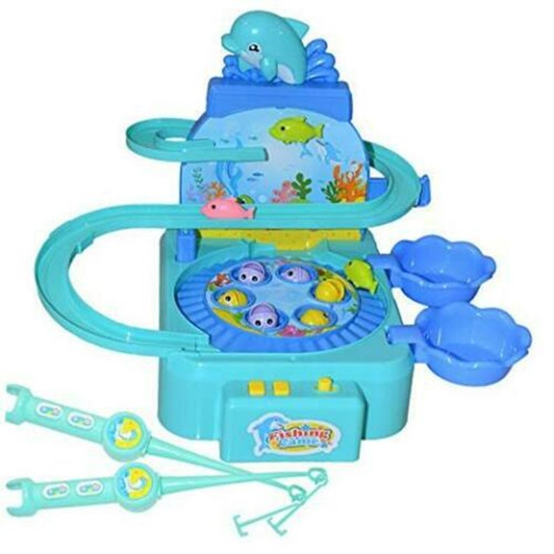 3 Magnetic hot Kids Fishing Game Toys with Music,Fishing Toy with 6 Fish