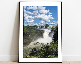 Illustration South America Iguazu Falls Print Argentina Travel Poster National Park Art Gift Brazil Print Iguazu National Park Poster