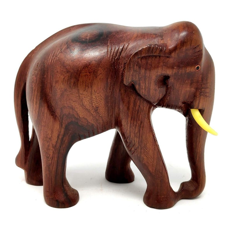Barfi Arts Wooden Elephant Statue Hand Made Rose Wood Elephant Statue Home Decor Gift Set