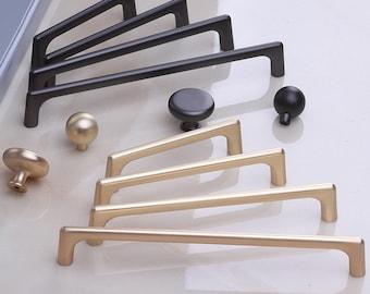 Cabinet Drawer Pulls Modern Hardware Cabinet Handles and Knobs Drawer Handle Wardrobe Cabinet Handle for Kitchen Bathroom Cabinets Decora