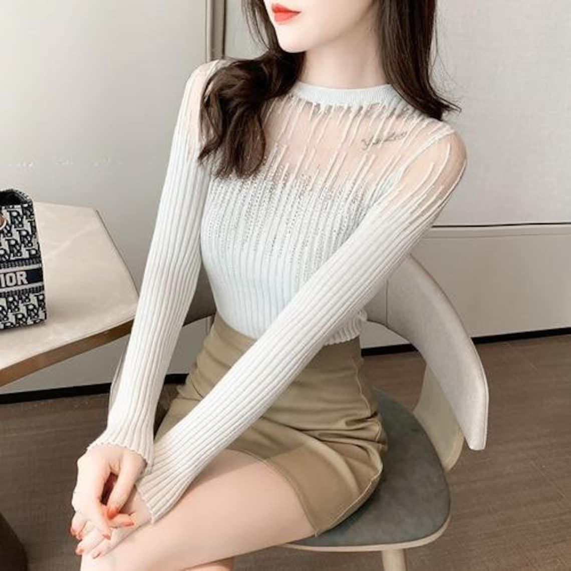 Frühling Herbst Sexy Frauen Pullover Pullover 2021 Full