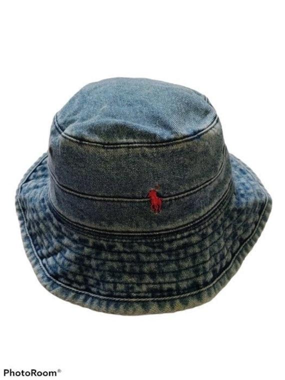 Polo Ralph Lauren Bucket Hat Denim Made In Usa Vin